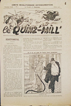 Le Quinz-mill' n° 1 (avril 1910)